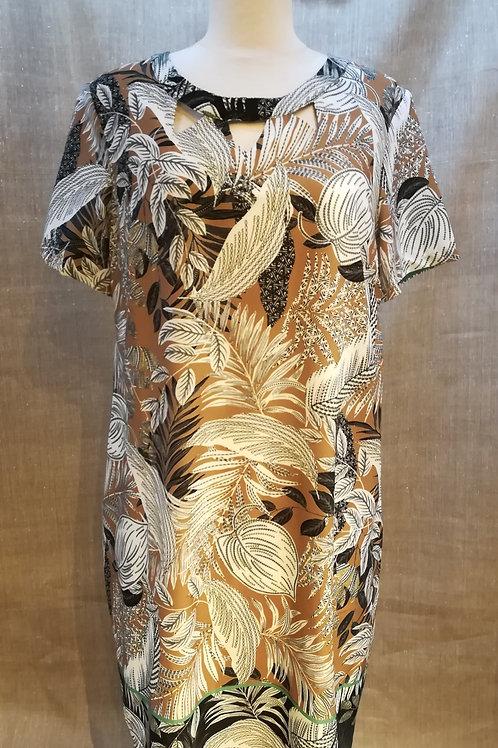 Robe imprimé beige Diane Laury