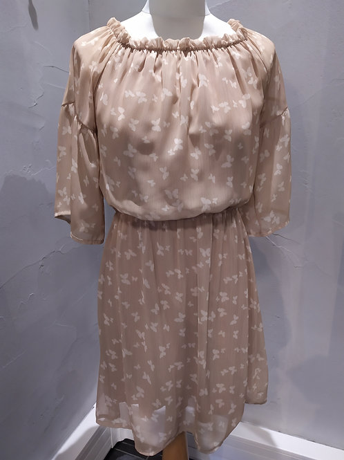 Robe beige motif papillons  Gaudi