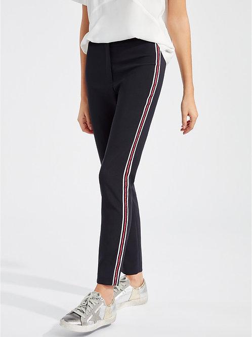 Pantalon cigarette avec bande tricolore Lauren Vidal