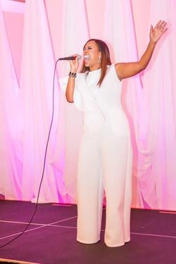 Nikki Ministering at Release Concert