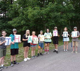Campers with Generic Thank You Sign.JPG