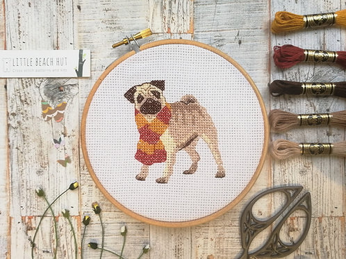 Snug Pug Cross Stitch Kit