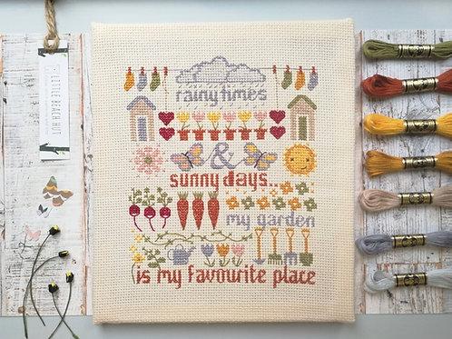 My Garden Cross Stitch Kit