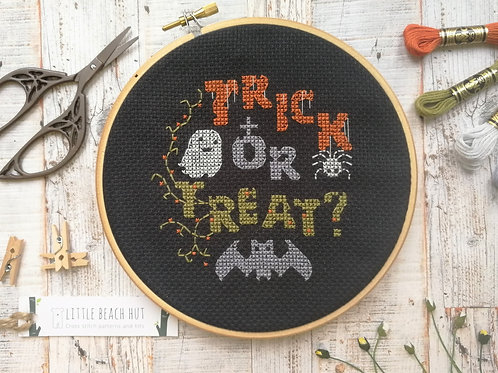 Trick or treat Halloween cross stitch kit