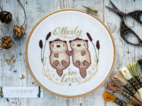 Otterly In Love Cross Stitch Kit