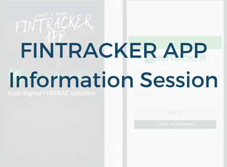 """FINTRACKER"" - Information Session"