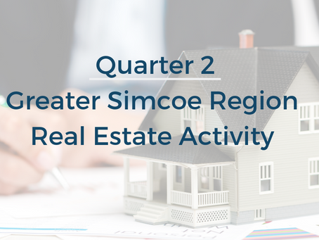Greater Simcoe Region Residential Real Estate Market Q2 Activity