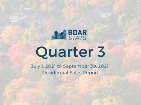 BDAR Stats: Quarter 3 2021 Residential Sales Report