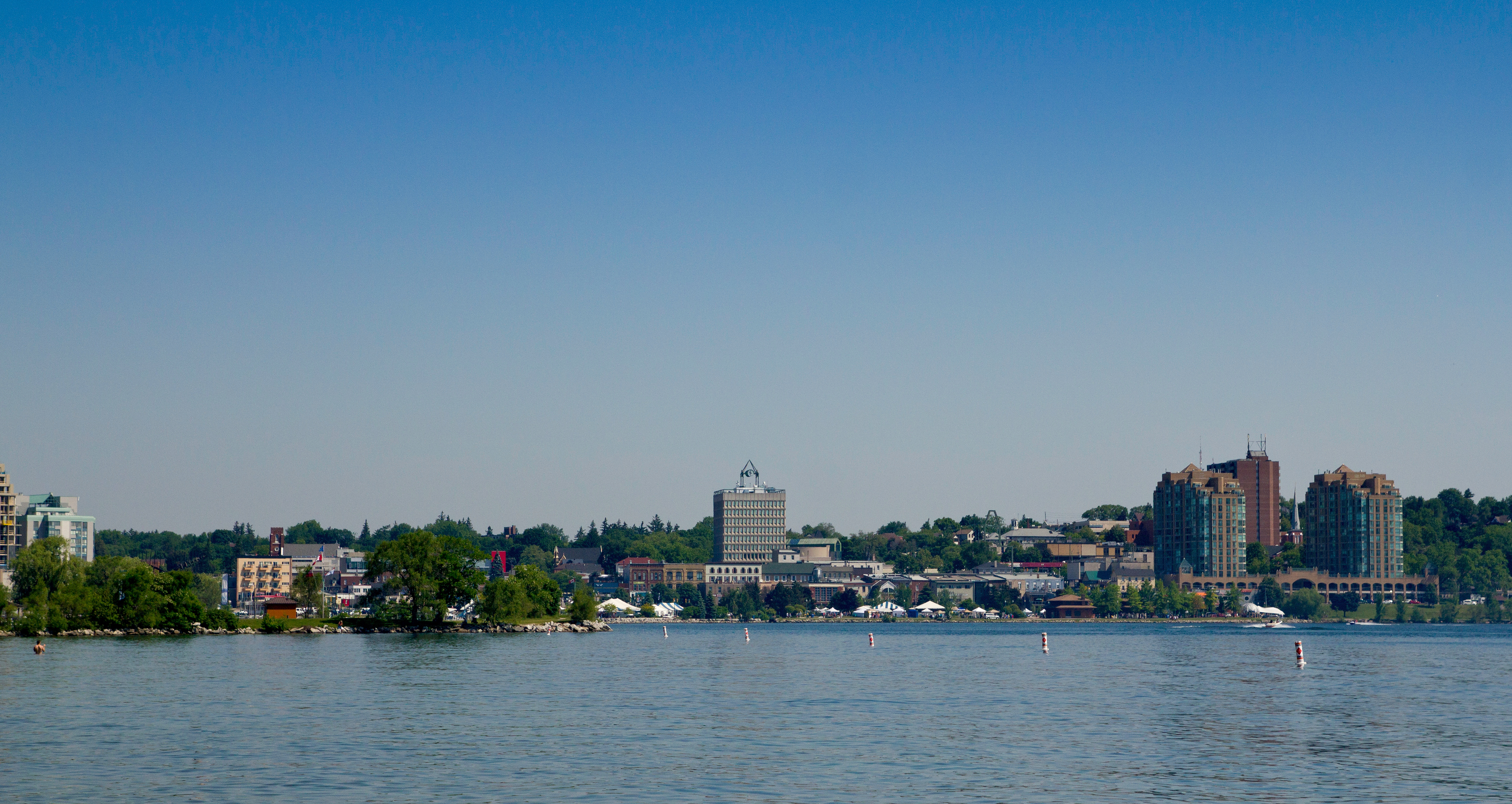 Skyline of Barrie in Ontario