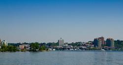 Skyline of Barrie in Ontario