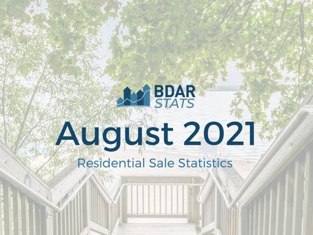 BDAR Stats: August 2021 Residential Sales Report