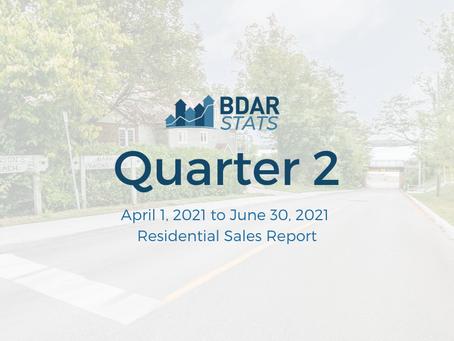 BDAR Stats: Quarter 2 2021 Residential Sales Report