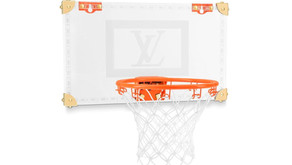 The NBA x Louis Vuitton Backboard and Ball is as luxurious as it gets