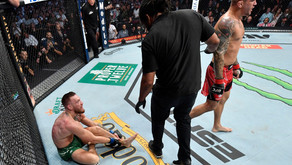 Conor McGregor Breaks Leg in Dustin Poirier Trilogy Fight