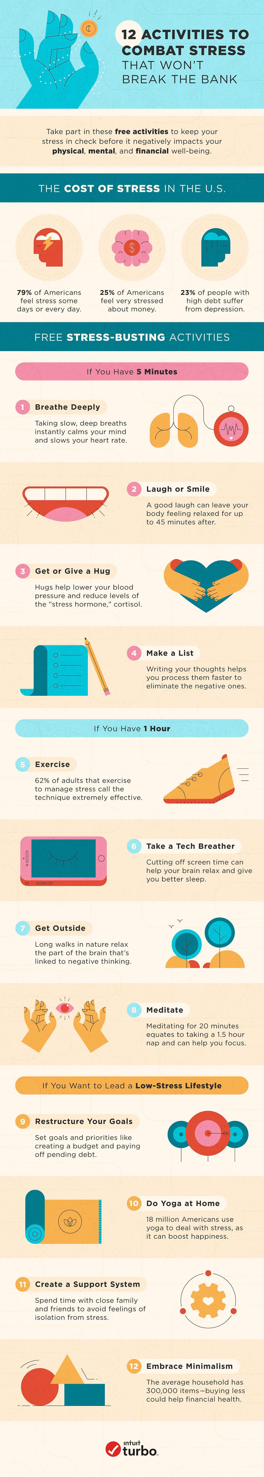 12 activities to combat stress that won't break the bank