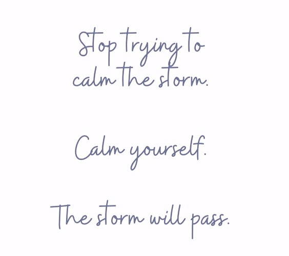 Calm yourself quote
