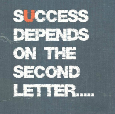 Success Depends on the second letter