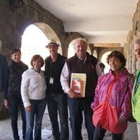 Guías con turistas