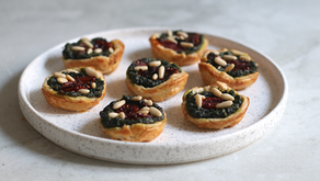 Mini Quiches Vegane con Ricotta e Spinaci