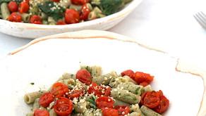 Pasta di Canapa con Cime di rapa e Pomodorini confit