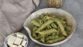 Pesto alla genovese con tofu, ricetta vegana