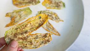 Chips di fiori di Zucca alle Erbe Aromatiche