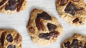 Cookies con Cioccolato, Pecan e Cannella. Vegan & gluten free!