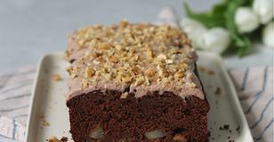 Torta Senza Glutine e Vegana - con Cioccolato, Pere e Noci