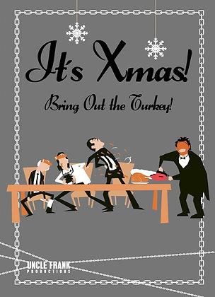 "024 LEATHERFACE Greetings Card ""TURKEY"""