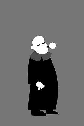 036 FESTER fridge magnet Addams Family
