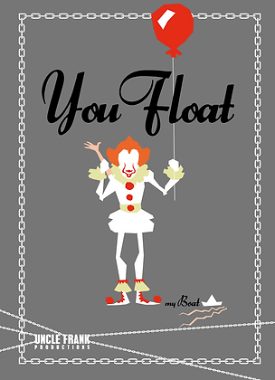 """049 PENNYWISE Greetings Card """"You Float TOO"""""""