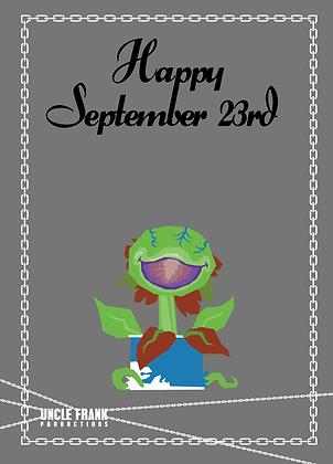 "060 AUDREY Greetings Card ""SEPTEMBER 23"""