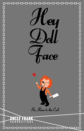 "011 CHUCKY Greetings Card ""Hey Doll Face"""