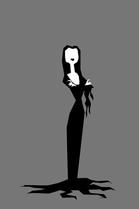 032 MORTICIA fridge magnet Addams Family