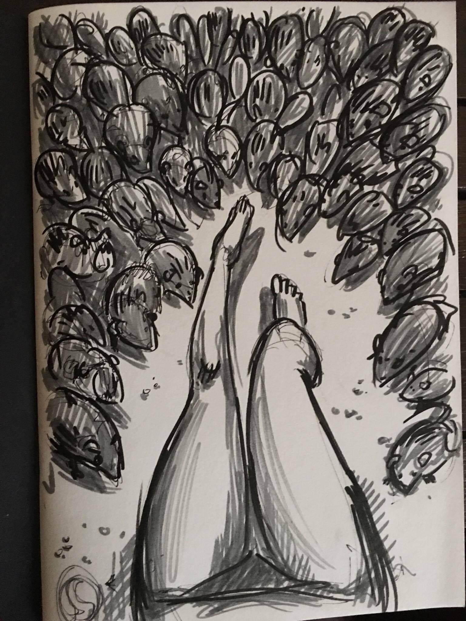Dani Brown 'Broccoli' Sketch