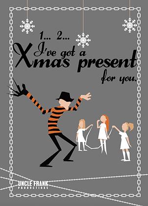"""040 FREDDY Greetings Card """"1 2 Present"""""""