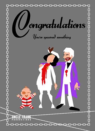 "038 BRAINDEAD Greetings Card ""Spawned"""