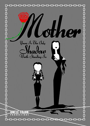007 MORTICIA greetings card 'Your shadow'