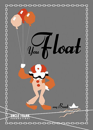 "014 PENNYWISE (Original) Greetings Card ""You Float My Boat"""