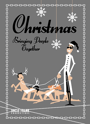 "026 HUMAN CENTIPEDE Greetings Card ""Bringing Together"""