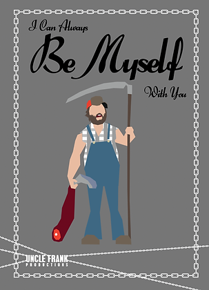 "057 DALE Greetings Card ""BE MYSELF"""