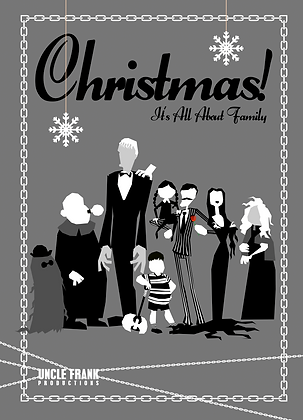 "031 ADDAMS FAMILY Greetings Card ""FAMILY"""