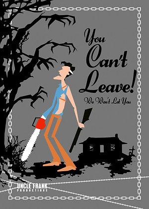 """001 ASH Greetings Card """"You Can't Leave"""""""
