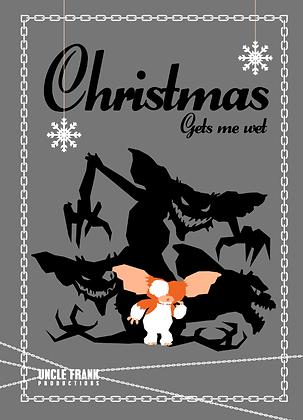 """027 GREMLINS Greetings Card """"Gets Me Wet"""""""