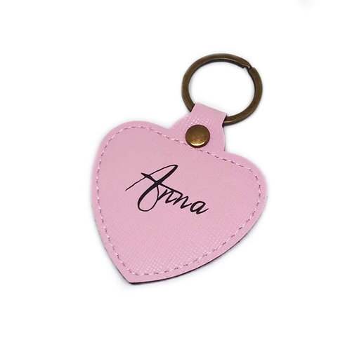 Heart Keyring - Handwriting