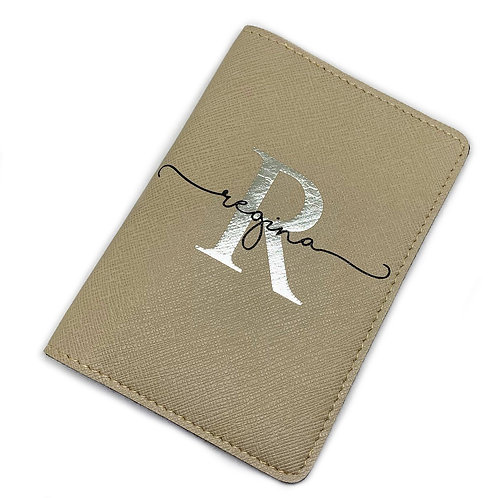 Passport Cover - Letter & Name