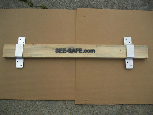 See-Safe Security Door Lock Barricade 2x4 Board Complete kit