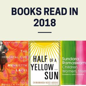 The Books I read in 2018