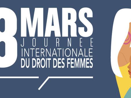 8 Mars Journée International du Droit des Femmes