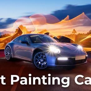 Light painting a Porsche